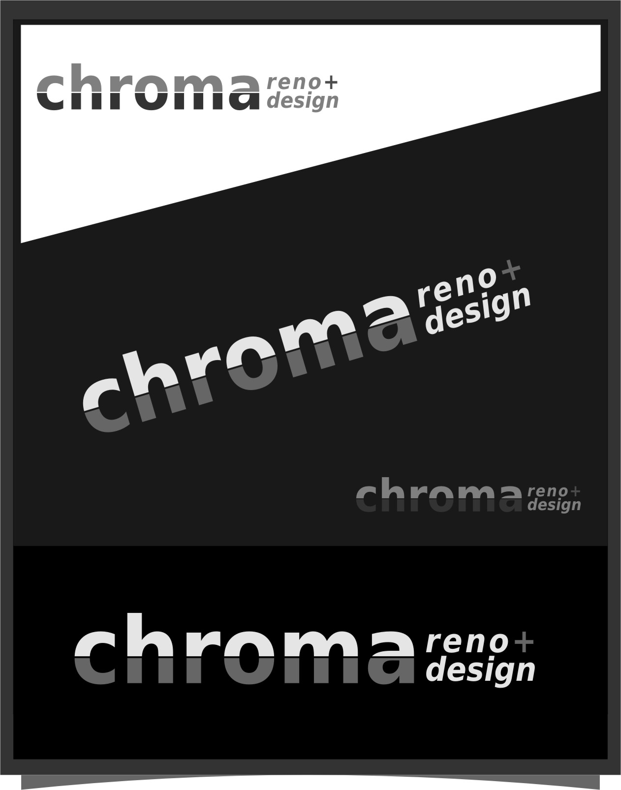 Logo Design by RasYa Muhammad Athaya - Entry No. 260 in the Logo Design Contest Inspiring Logo Design for Chroma Reno+Design.