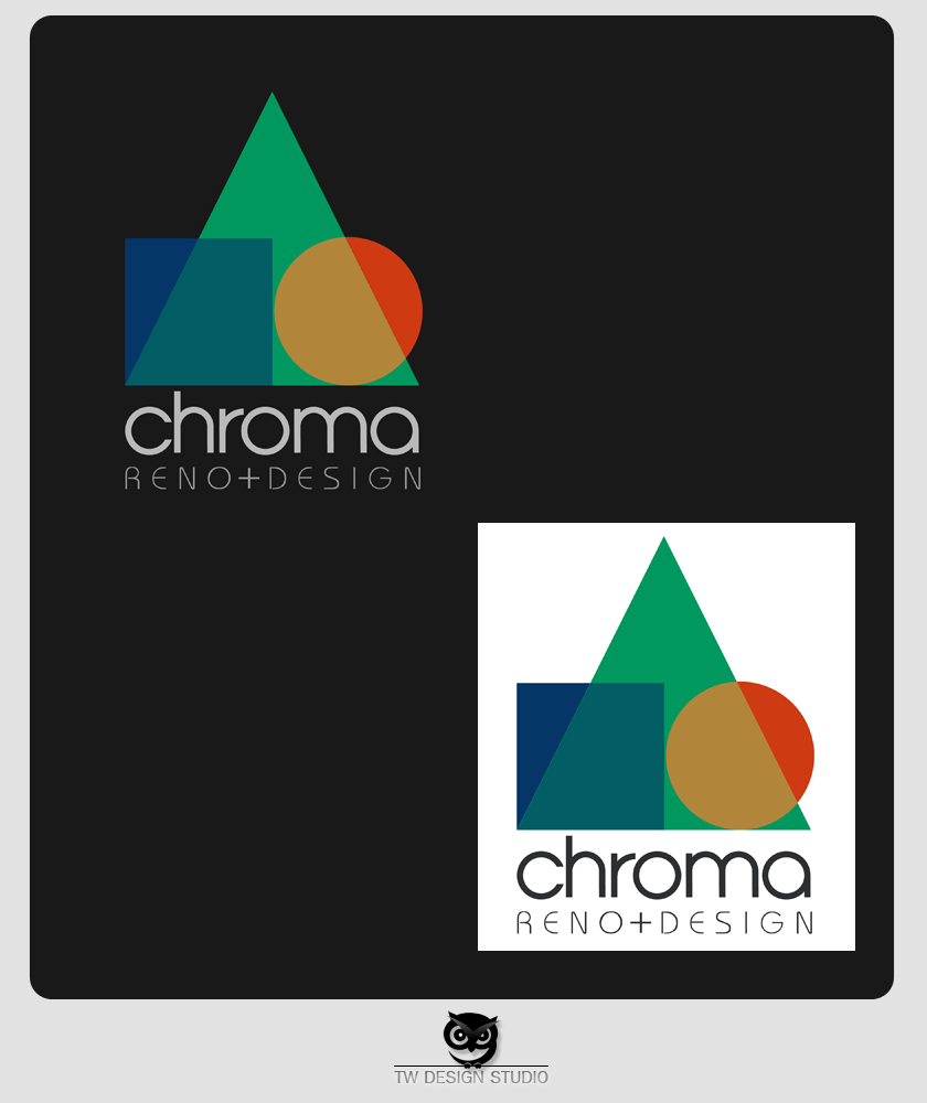 Logo Design by Private User - Entry No. 261 in the Logo Design Contest Inspiring Logo Design for Chroma Reno+Design.