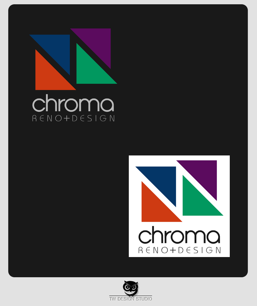 Logo Design by Private User - Entry No. 262 in the Logo Design Contest Inspiring Logo Design for Chroma Reno+Design.