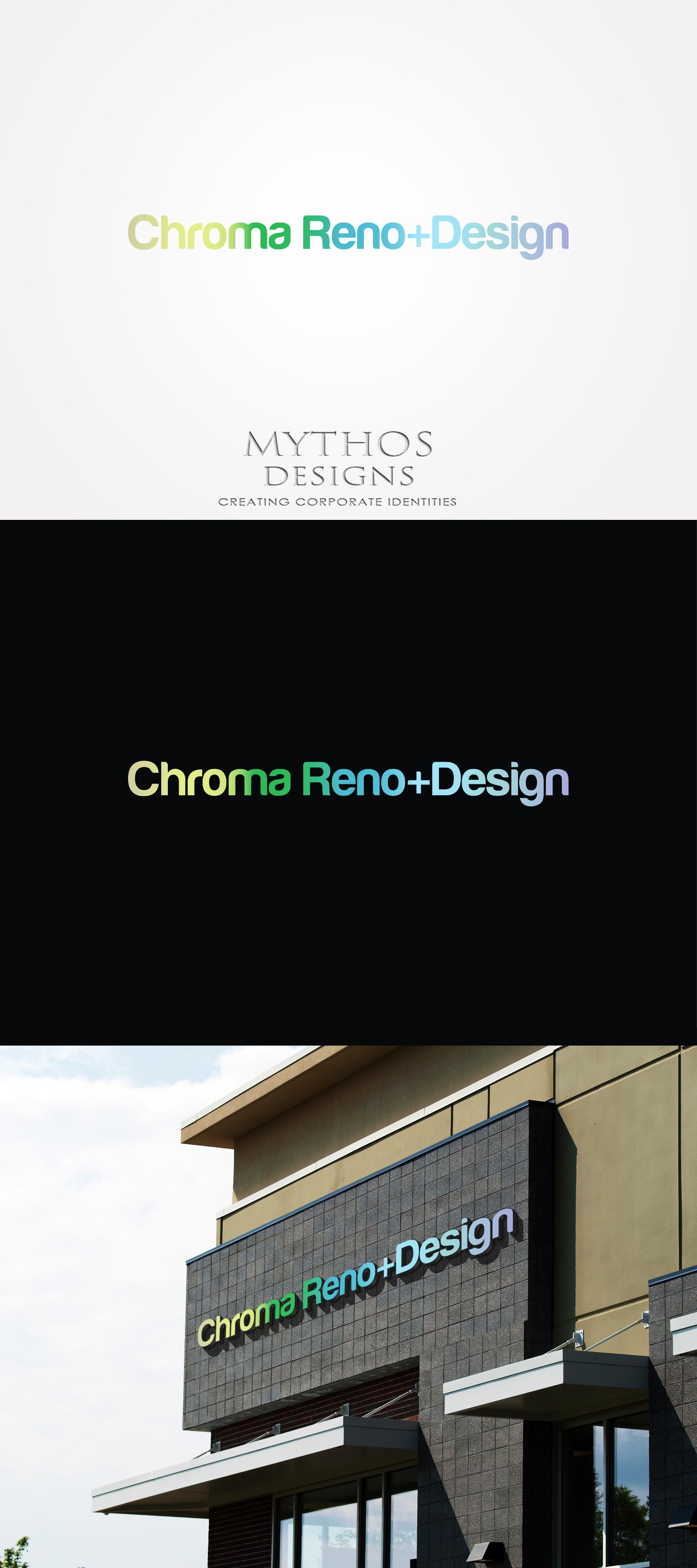 Logo Design by Mythos Designs - Entry No. 271 in the Logo Design Contest Inspiring Logo Design for Chroma Reno+Design.