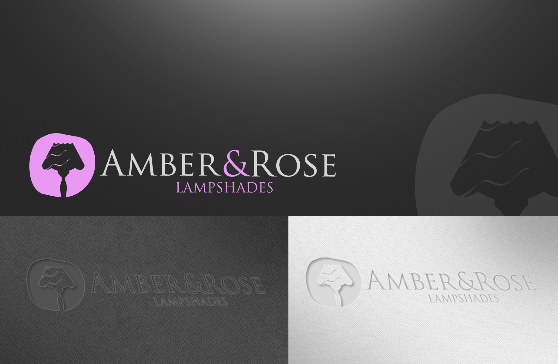 Logo Design by Jan Chua - Entry No. 69 in the Logo Design Contest Creative Logo Design for Amber & Rose.