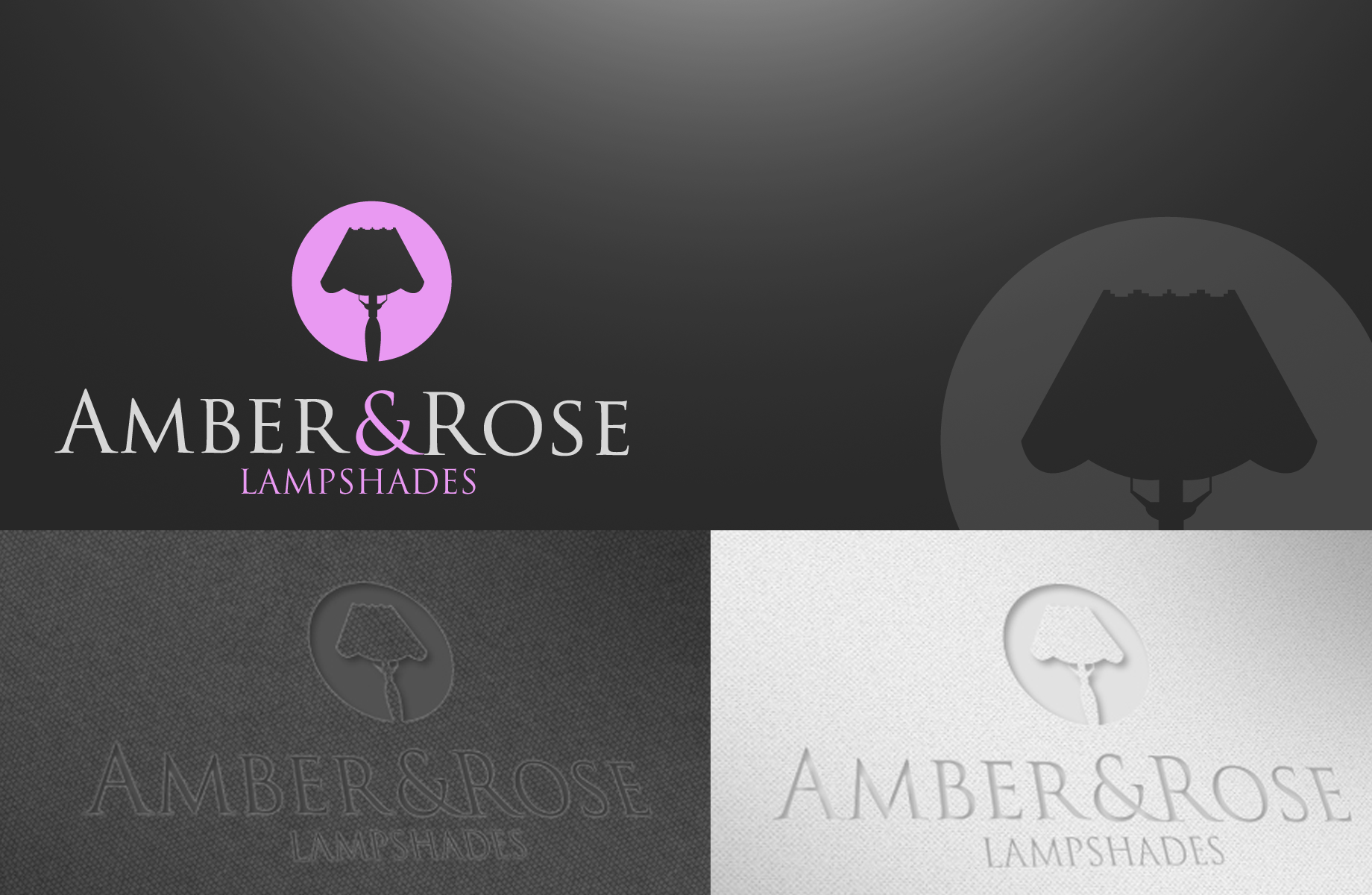 Logo Design by Jan Chua - Entry No. 70 in the Logo Design Contest Creative Logo Design for Amber & Rose.