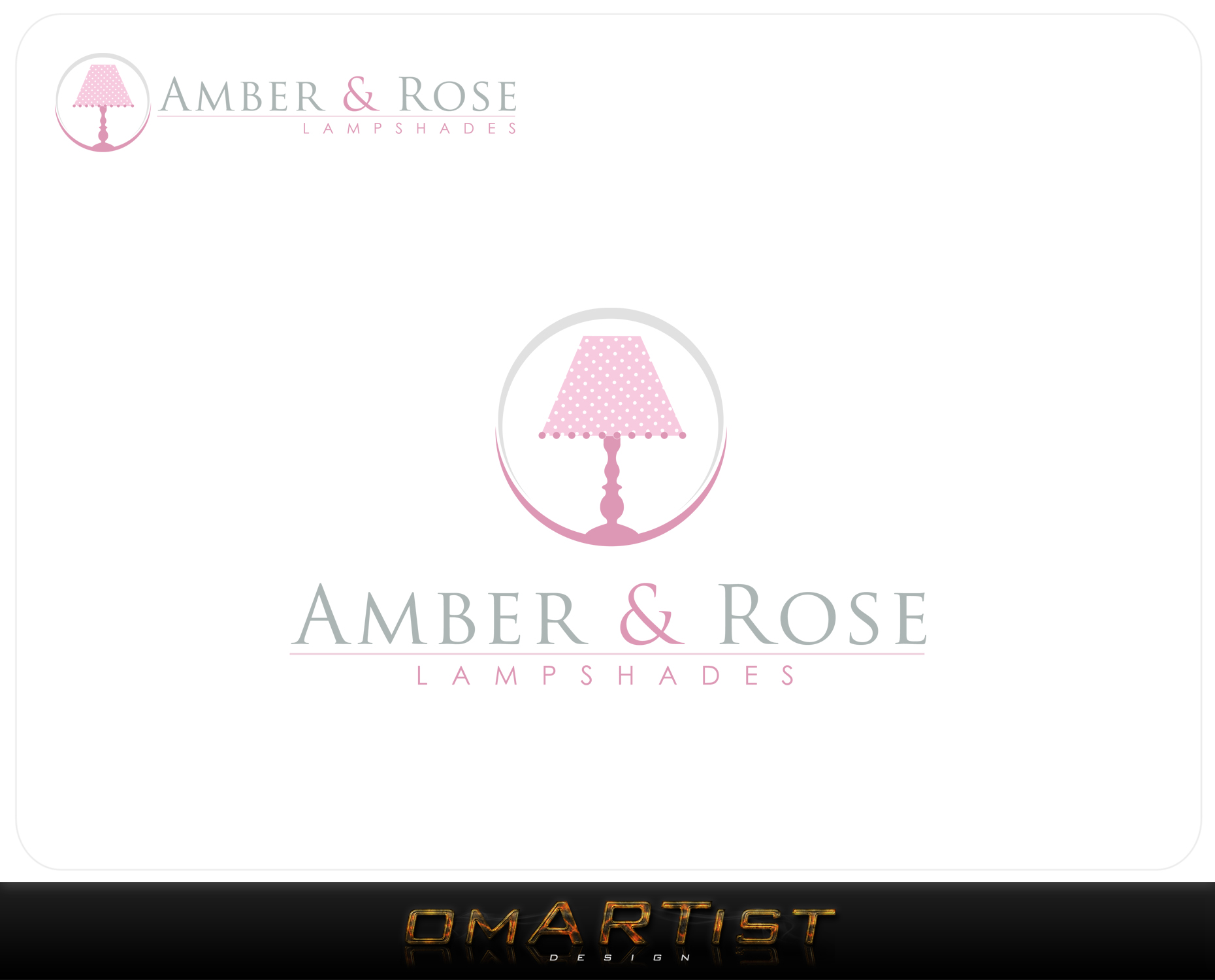 Logo Design by omARTist - Entry No. 77 in the Logo Design Contest Creative Logo Design for Amber & Rose.