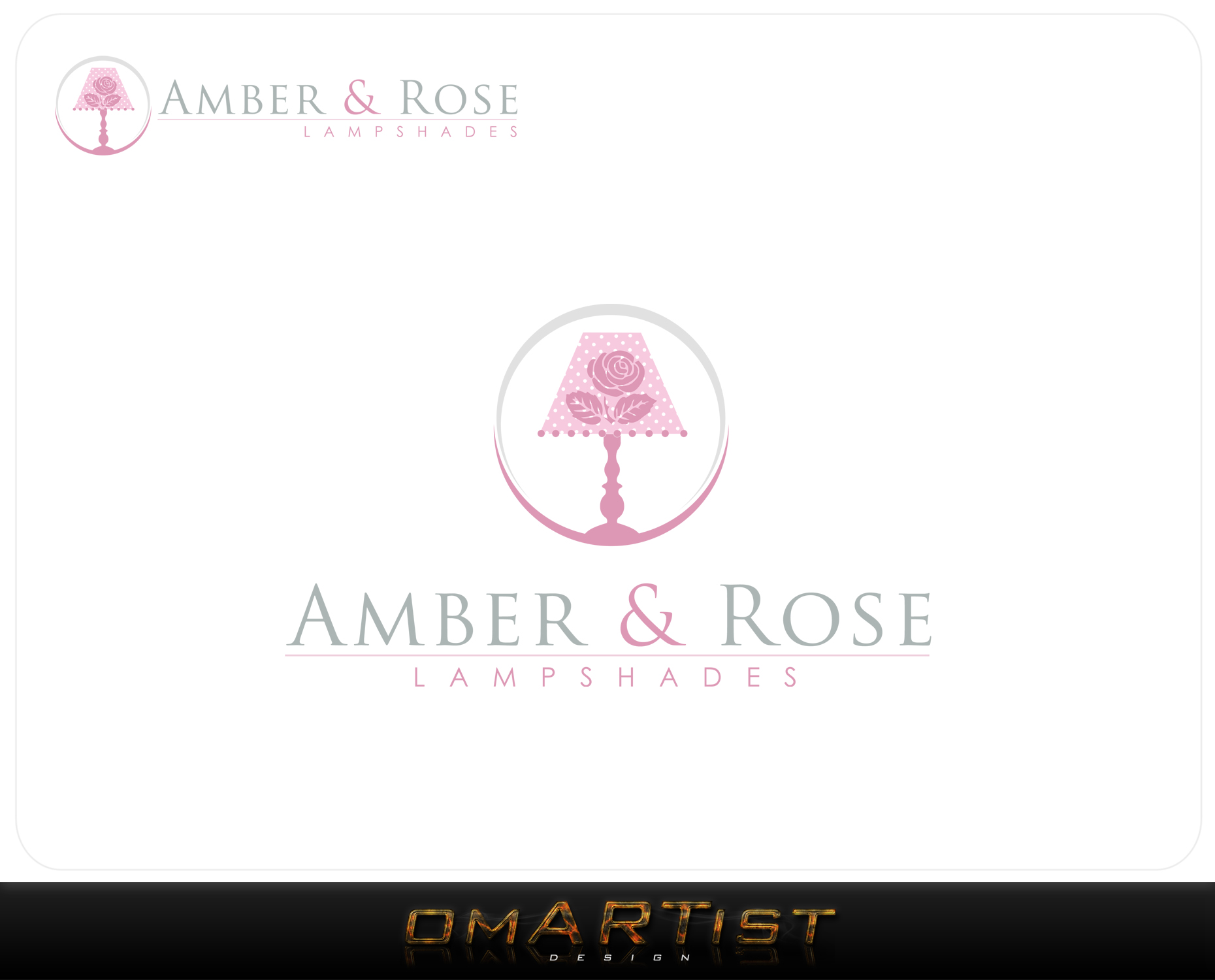 Logo Design by omARTist - Entry No. 82 in the Logo Design Contest Creative Logo Design for Amber & Rose.