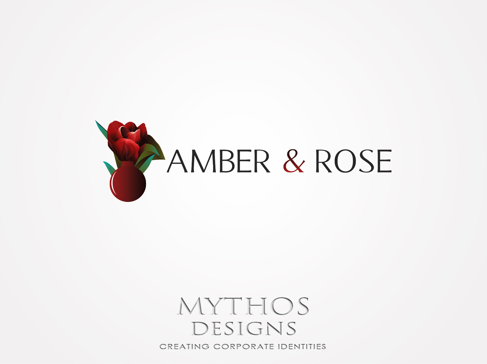 Logo Design by Mythos Designs - Entry No. 83 in the Logo Design Contest Creative Logo Design for Amber & Rose.