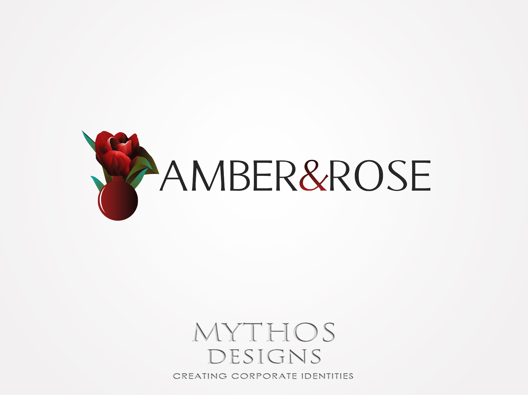 Logo Design by Mythos Designs - Entry No. 84 in the Logo Design Contest Creative Logo Design for Amber & Rose.