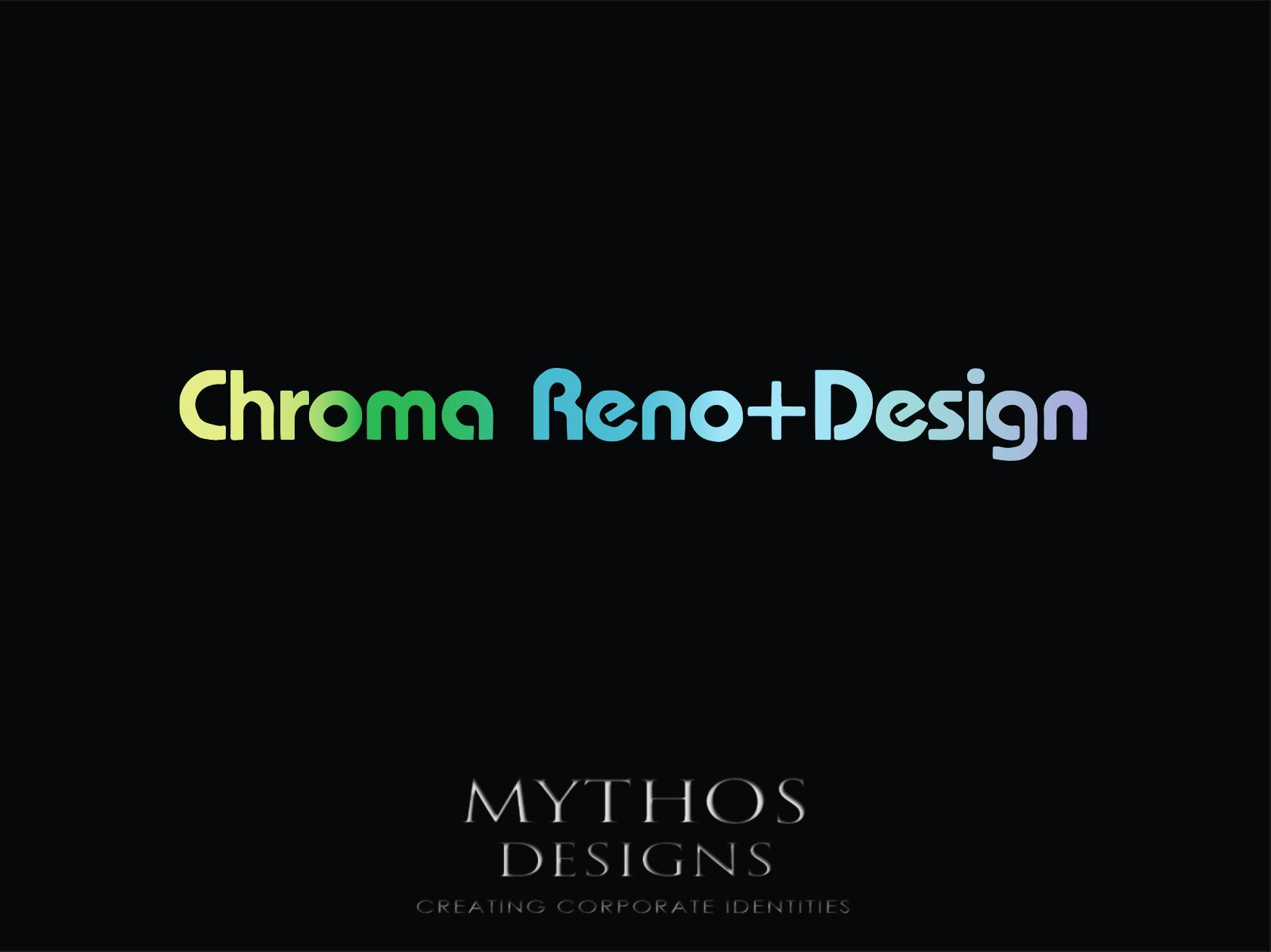 Logo Design by Mythos Designs - Entry No. 280 in the Logo Design Contest Inspiring Logo Design for Chroma Reno+Design.