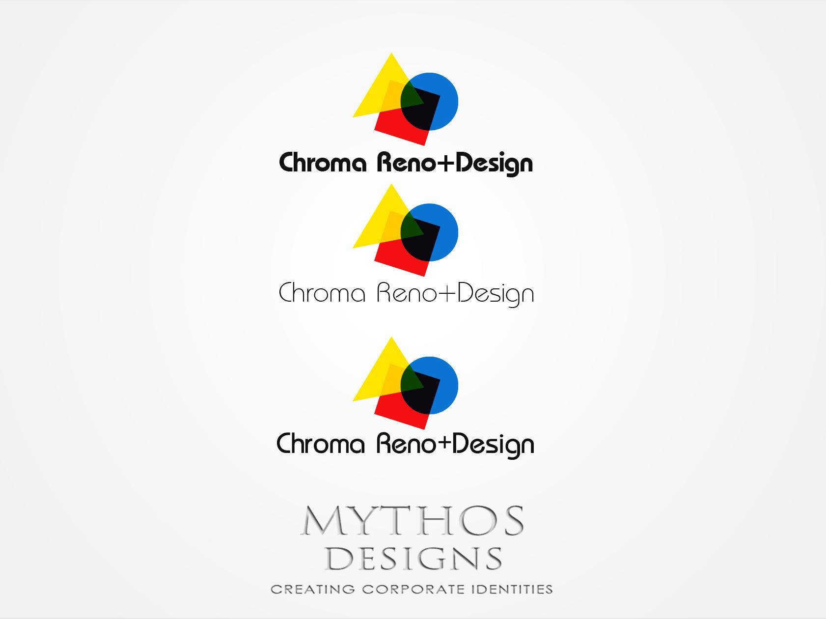 Logo Design by Mythos Designs - Entry No. 283 in the Logo Design Contest Inspiring Logo Design for Chroma Reno+Design.