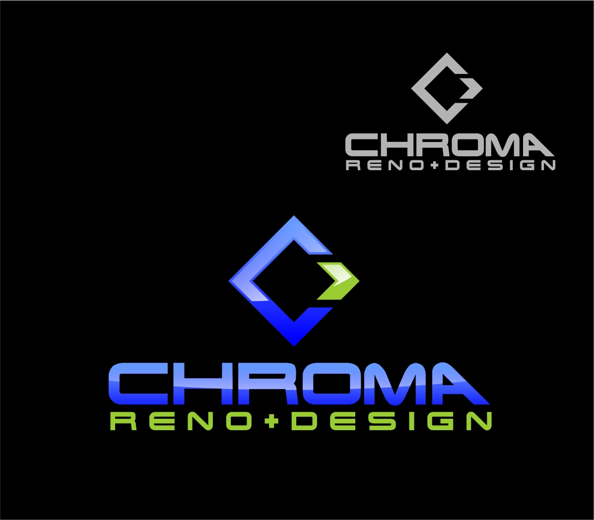 Logo Design by Reivan Ferdinan - Entry No. 297 in the Logo Design Contest Inspiring Logo Design for Chroma Reno+Design.