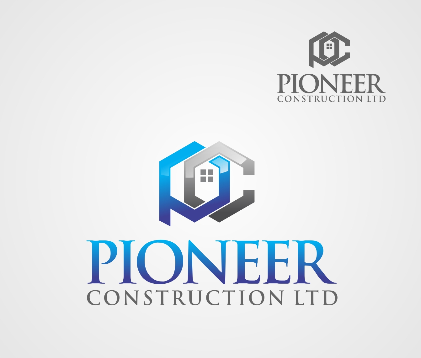 Logo Design by Reivan Ferdinan - Entry No. 3 in the Logo Design Contest Imaginative Logo Design for  Pioneer Construction Ltd.