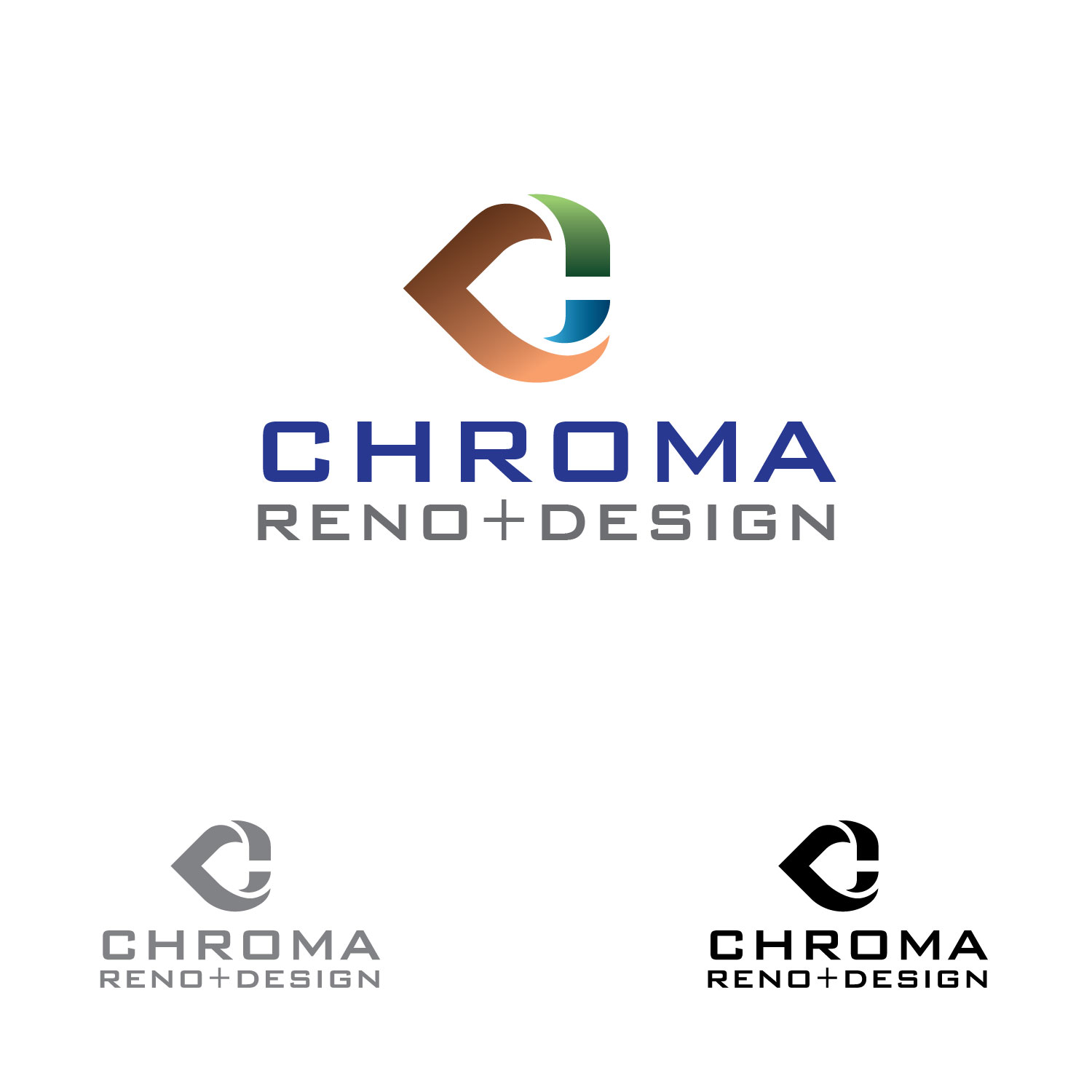Logo Design by lagalag - Entry No. 302 in the Logo Design Contest Inspiring Logo Design for Chroma Reno+Design.