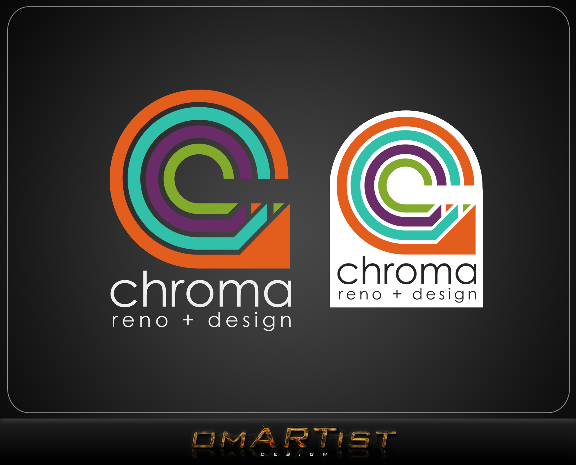 Logo Design by omARTist - Entry No. 304 in the Logo Design Contest Inspiring Logo Design for Chroma Reno+Design.