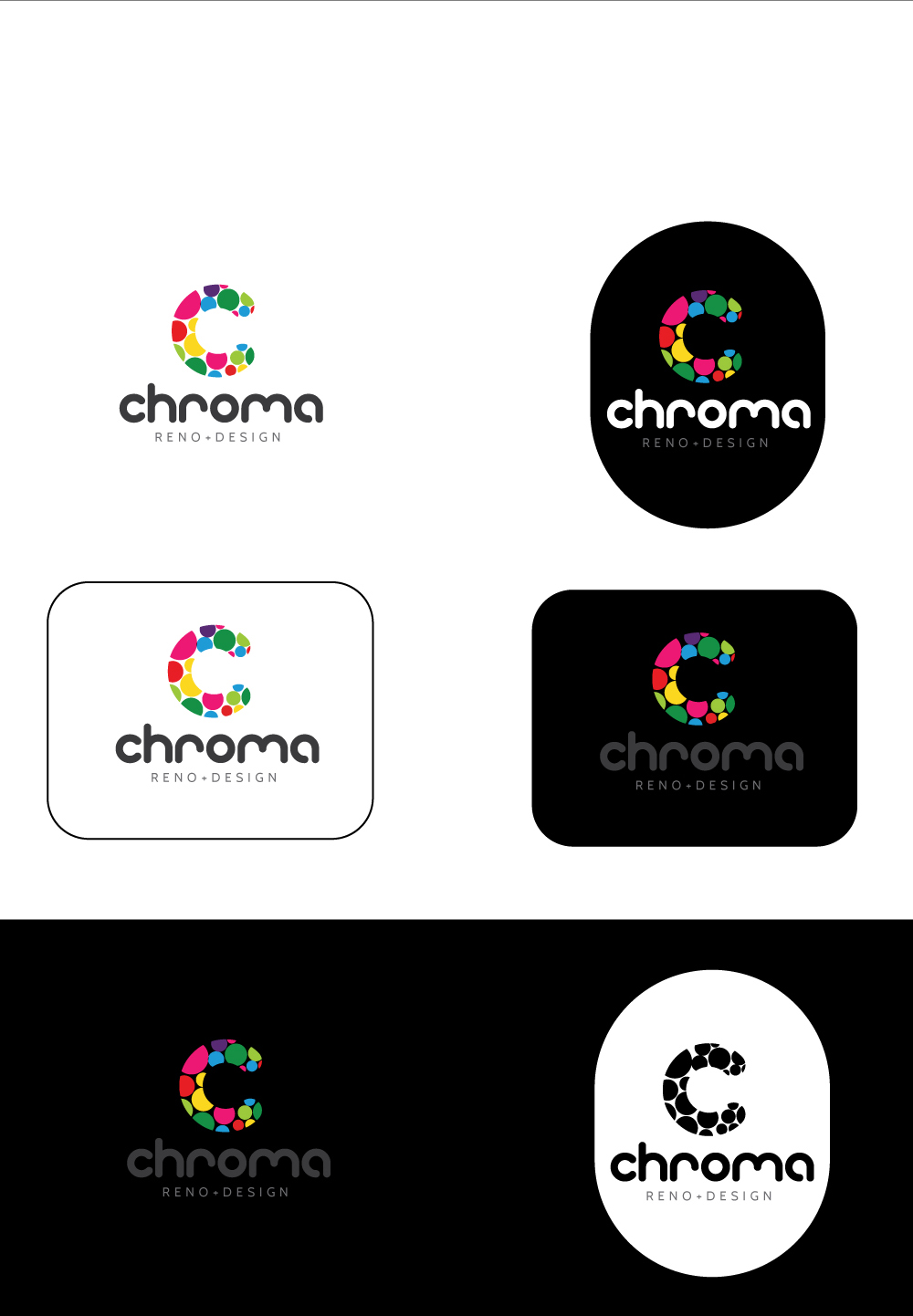 Logo Design by Shameer Okay - Entry No. 311 in the Logo Design Contest Inspiring Logo Design for Chroma Reno+Design.