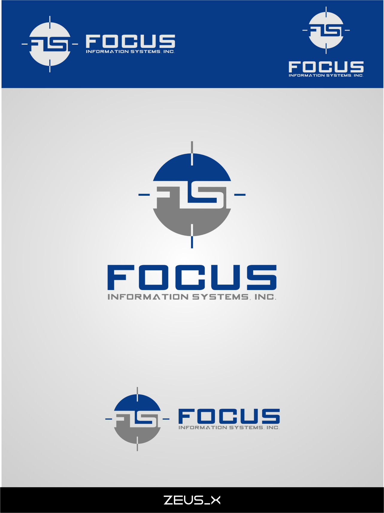 Logo Design by Ngepet_art - Entry No. 55 in the Logo Design Contest Artistic Logo Design for Focus Information Systems, Inc..
