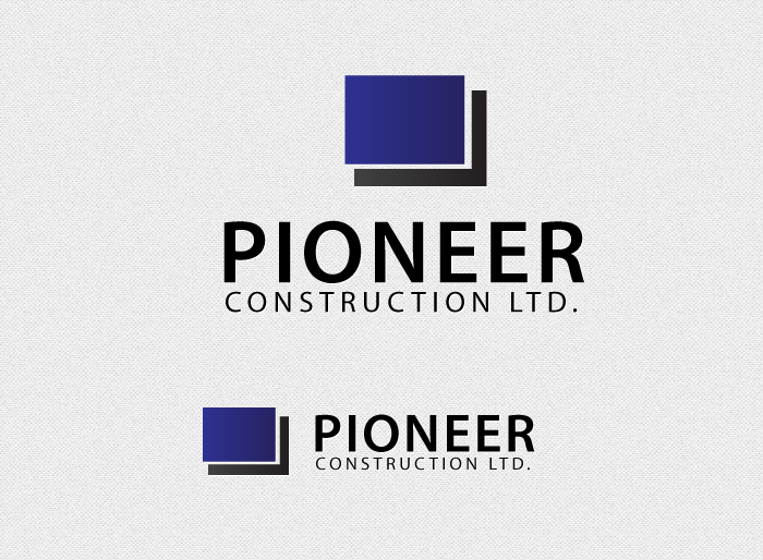 Logo Design by Jan Chua - Entry No. 6 in the Logo Design Contest Imaginative Logo Design for  Pioneer Construction Ltd.