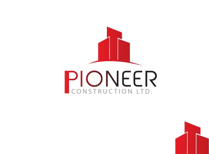 Logo Design by Jan Chua - Entry No. 7 in the Logo Design Contest Imaginative Logo Design for  Pioneer Construction Ltd.