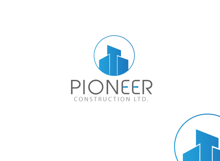 Logo Design by Jan Chua - Entry No. 8 in the Logo Design Contest Imaginative Logo Design for  Pioneer Construction Ltd.