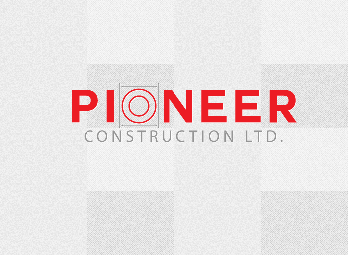 Logo Design by Jan Chua - Entry No. 9 in the Logo Design Contest Imaginative Logo Design for  Pioneer Construction Ltd.