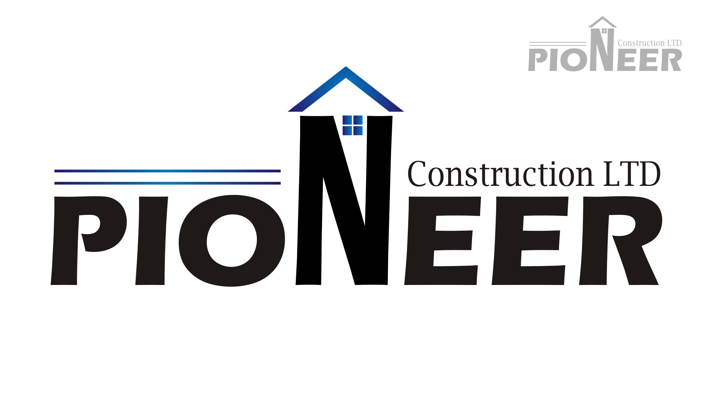 Logo Design by Yuda Hermawan - Entry No. 11 in the Logo Design Contest Imaginative Logo Design for  Pioneer Construction Ltd.