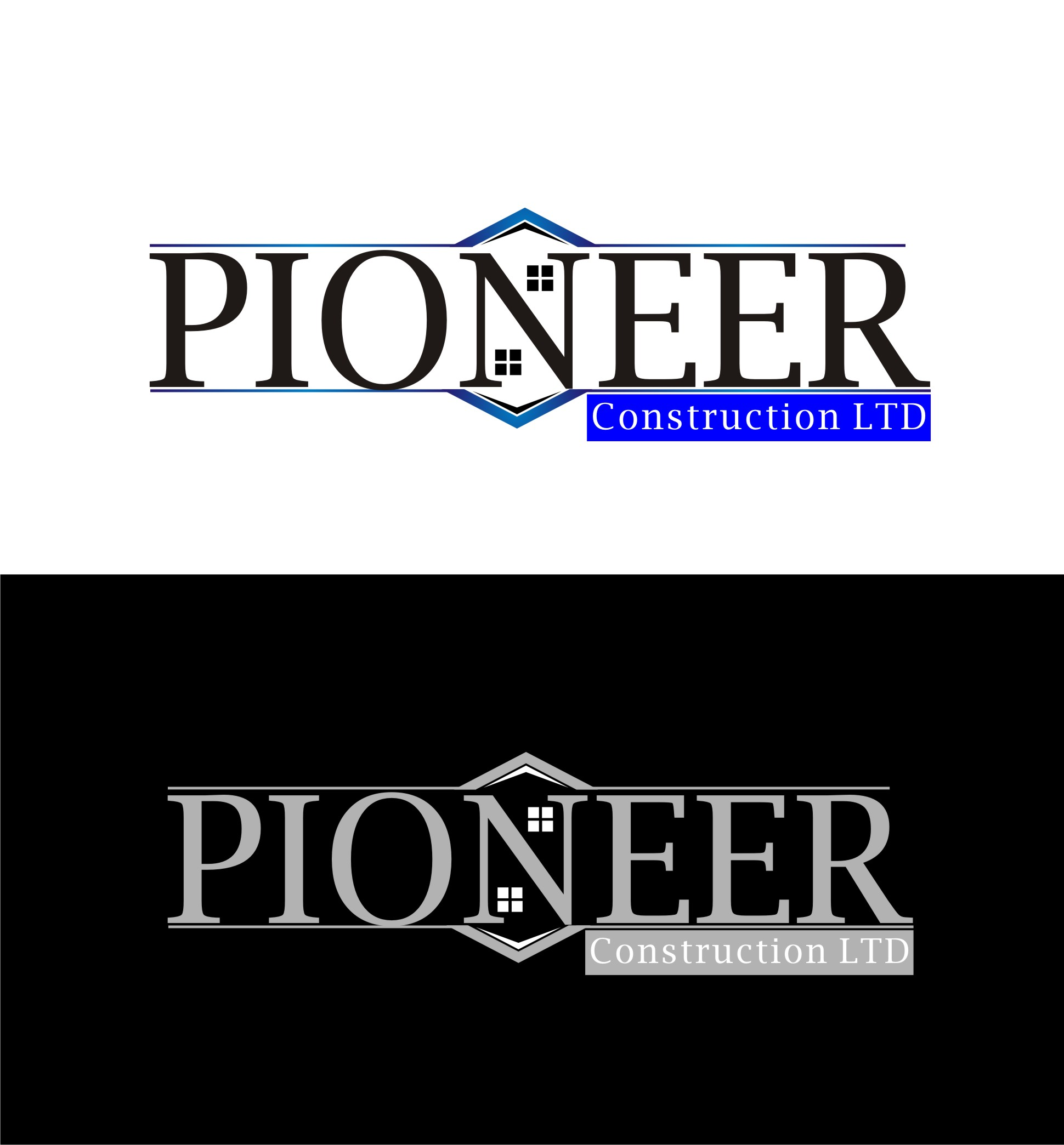 Logo Design by Yuda Hermawan - Entry No. 12 in the Logo Design Contest Imaginative Logo Design for  Pioneer Construction Ltd.