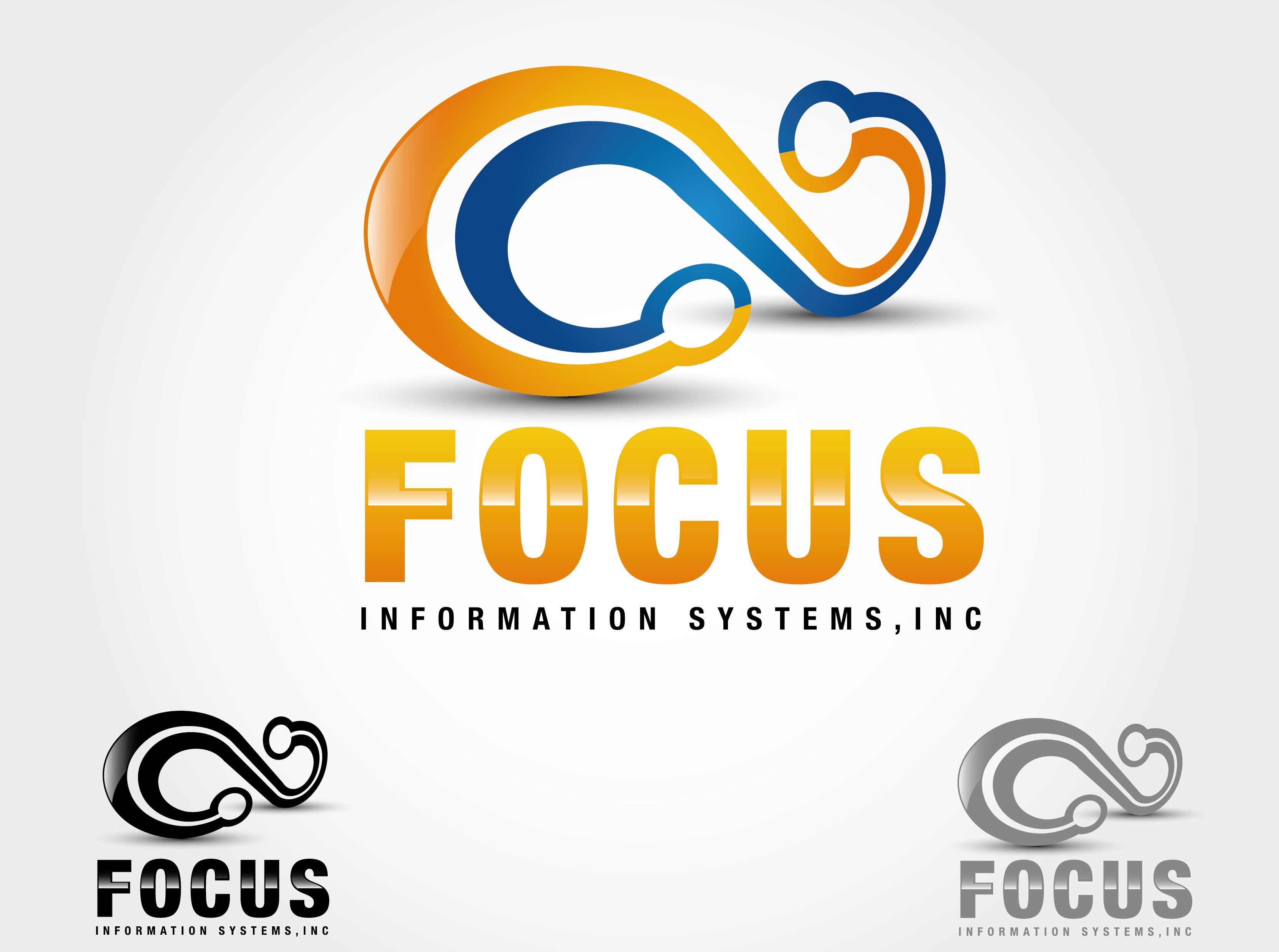Logo Design by VENTSISLAV KOVACHEV - Entry No. 68 in the Logo Design Contest Artistic Logo Design for Focus Information Systems, Inc..