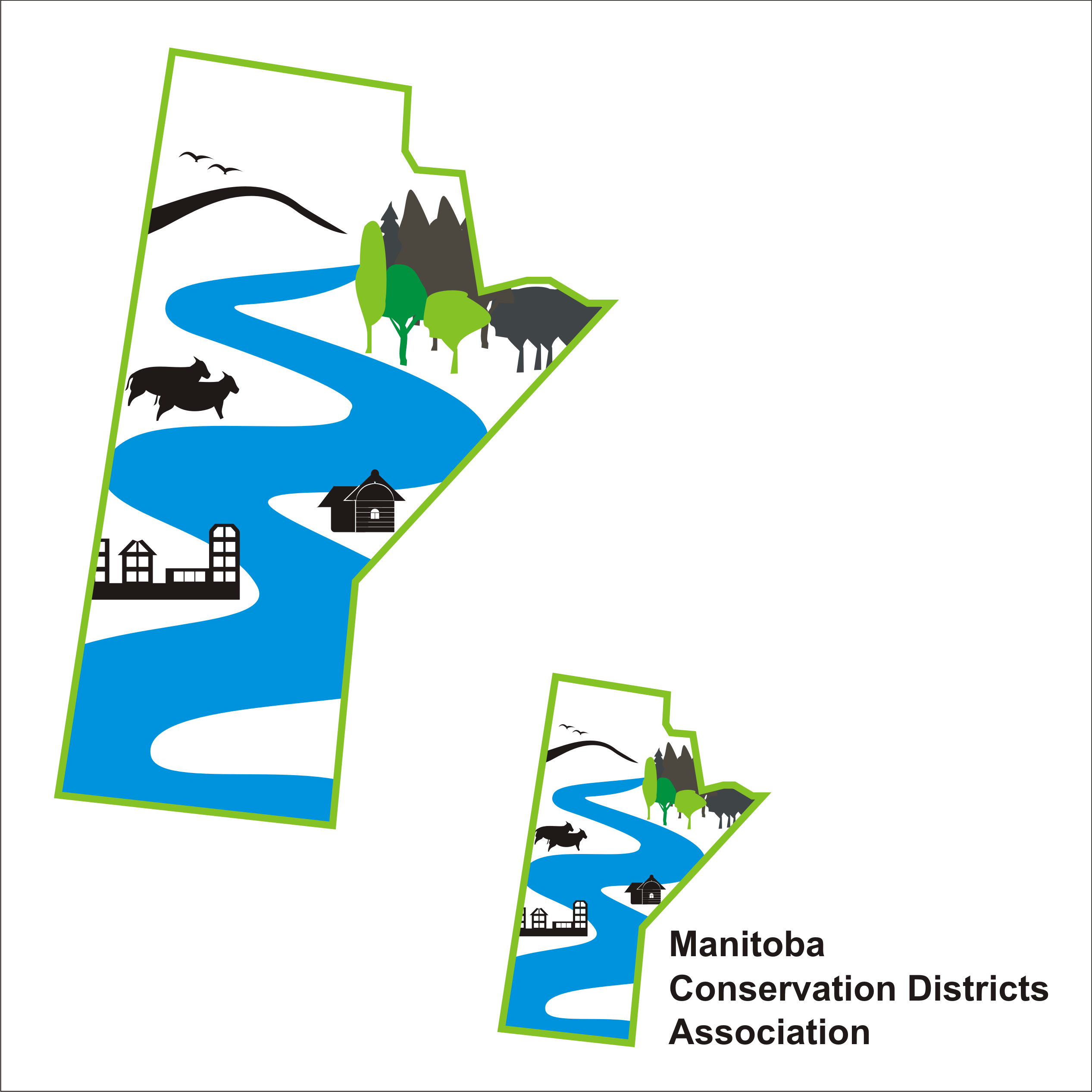 Logo Design by Private User - Entry No. 36 in the Logo Design Contest Manitoba Conservation Districts Logo Design.