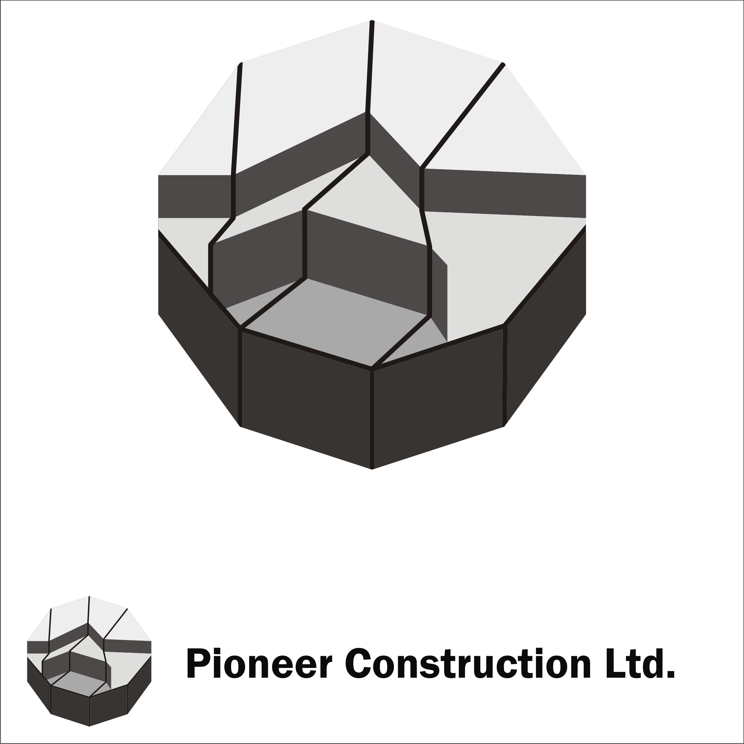 Logo Design by Private User - Entry No. 19 in the Logo Design Contest Imaginative Logo Design for  Pioneer Construction Ltd.