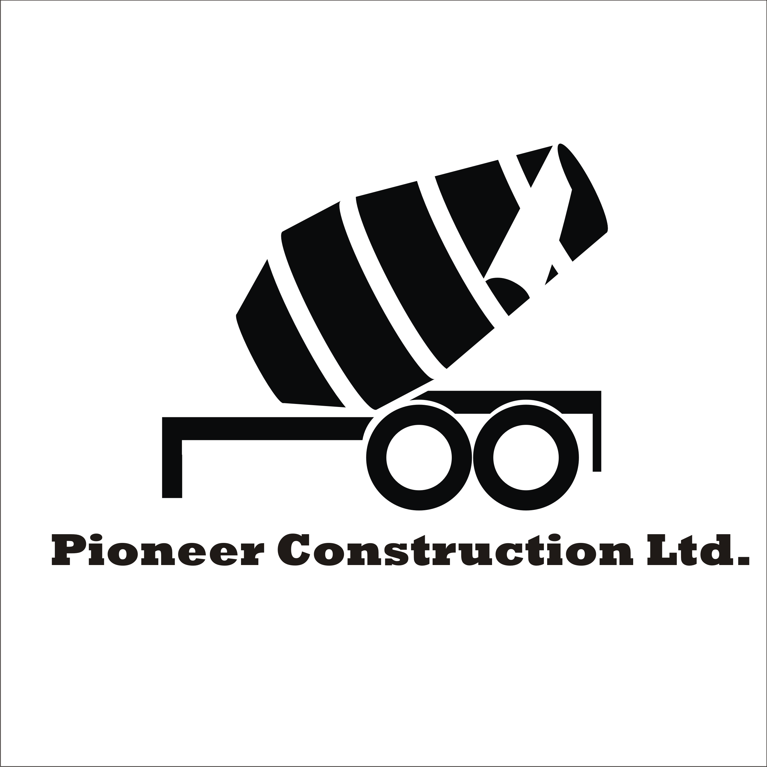 Logo Design by Private User - Entry No. 26 in the Logo Design Contest Imaginative Logo Design for  Pioneer Construction Ltd.