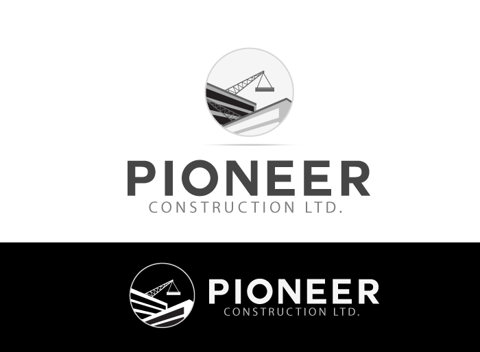 Logo Design by Jan Chua - Entry No. 30 in the Logo Design Contest Imaginative Logo Design for  Pioneer Construction Ltd.