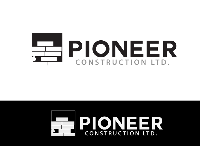 Logo Design by Jan Chua - Entry No. 31 in the Logo Design Contest Imaginative Logo Design for  Pioneer Construction Ltd.
