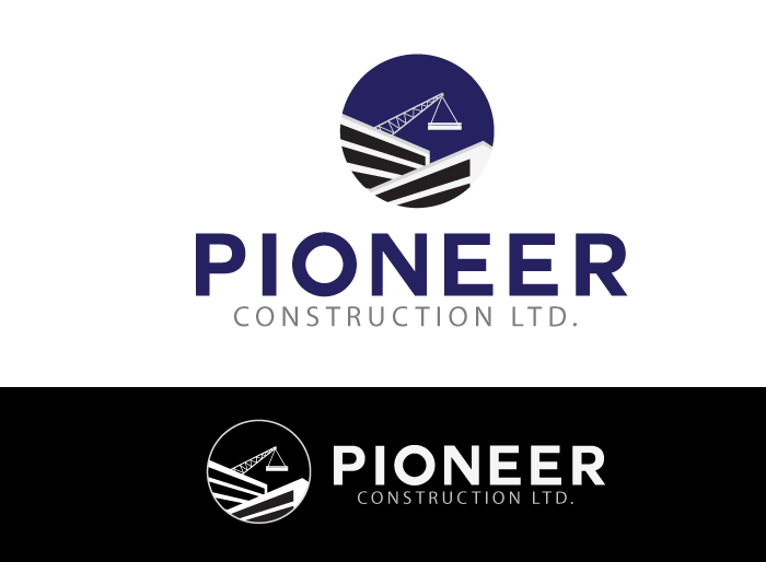 Logo Design by Jan Chua - Entry No. 35 in the Logo Design Contest Imaginative Logo Design for  Pioneer Construction Ltd.