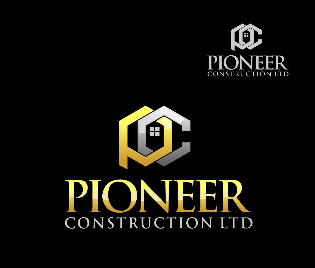 Logo Design by Reivan Ferdinan - Entry No. 37 in the Logo Design Contest Imaginative Logo Design for  Pioneer Construction Ltd.