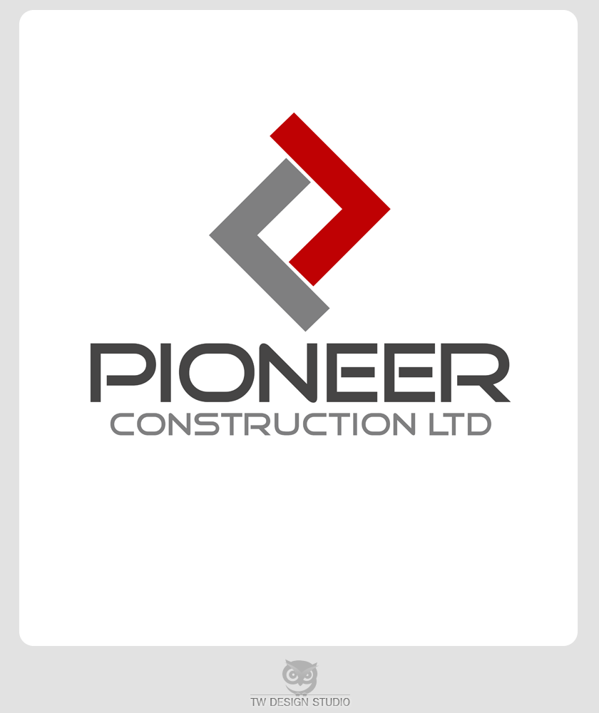 Logo Design by Private User - Entry No. 40 in the Logo Design Contest Imaginative Logo Design for  Pioneer Construction Ltd.