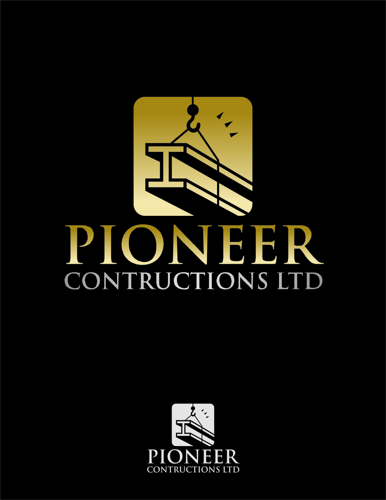 Logo Design by RasYa Muhammad Athaya - Entry No. 41 in the Logo Design Contest Imaginative Logo Design for  Pioneer Construction Ltd.