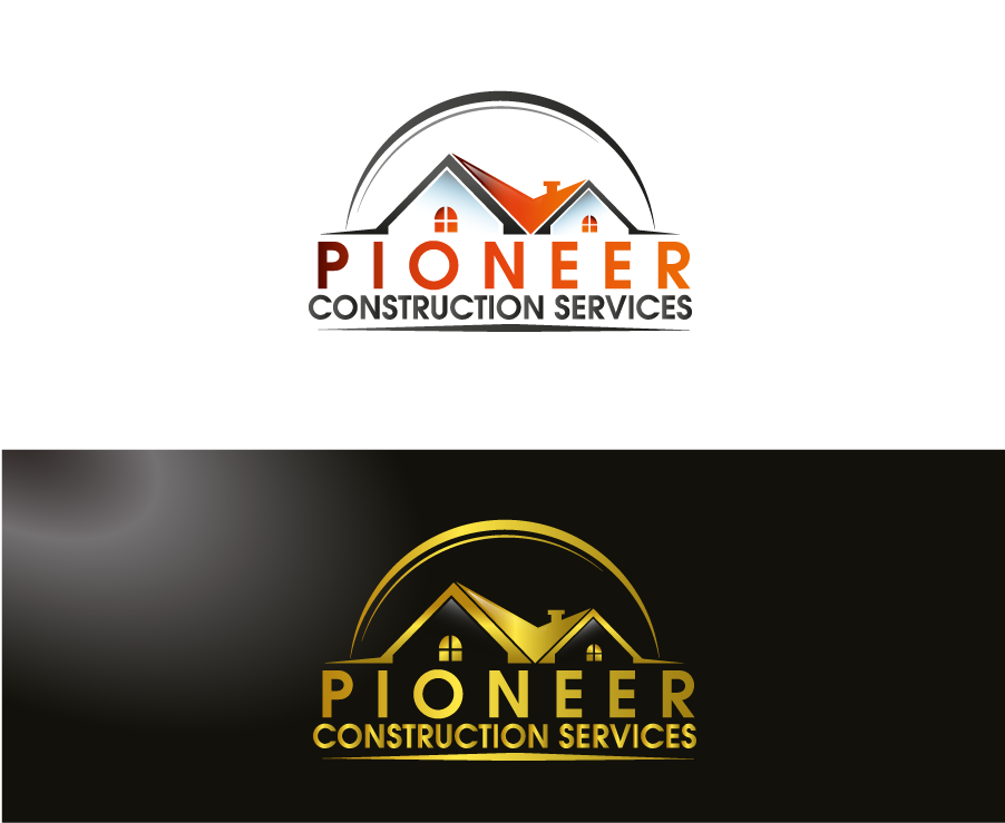 Logo Design by Private User - Entry No. 43 in the Logo Design Contest Imaginative Logo Design for  Pioneer Construction Ltd.
