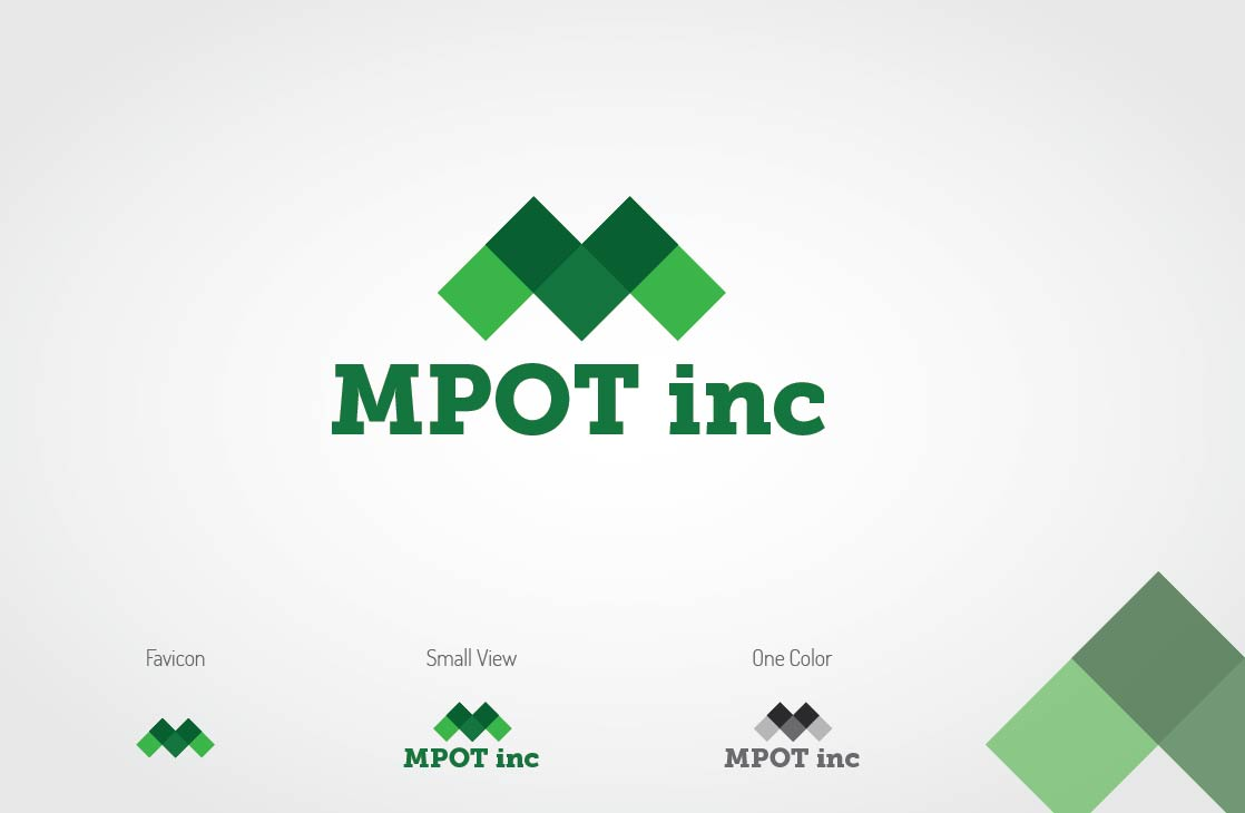 Logo Design by Shahriar Zaman - Entry No. 2 in the Logo Design Contest Mpot inc  Logo Design.