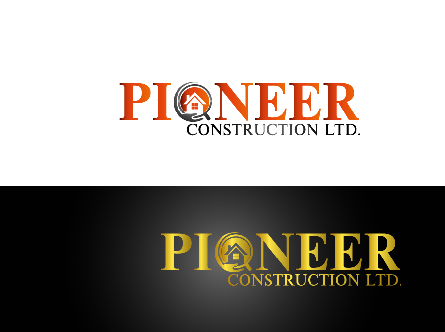 Logo Design by Private User - Entry No. 45 in the Logo Design Contest Imaginative Logo Design for  Pioneer Construction Ltd.