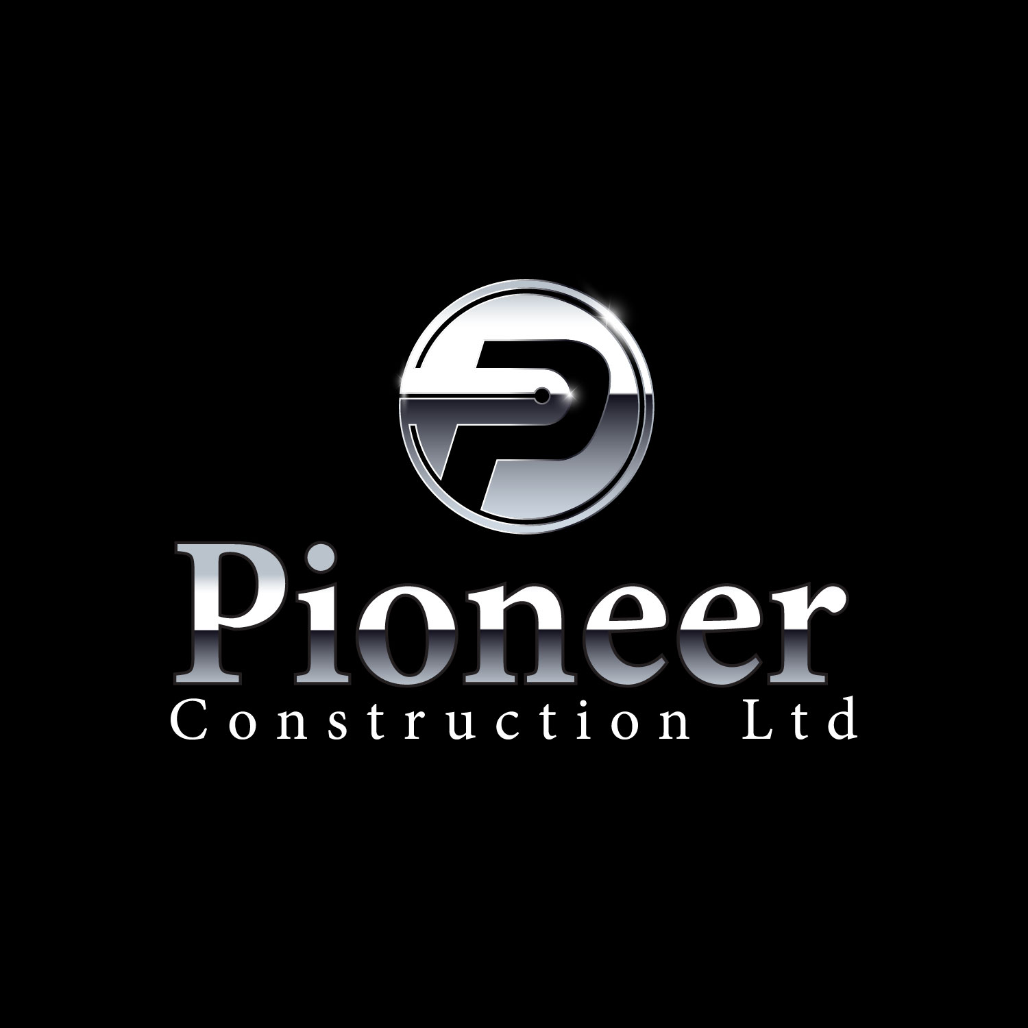 Logo Design by lagalag - Entry No. 48 in the Logo Design Contest Imaginative Logo Design for  Pioneer Construction Ltd.