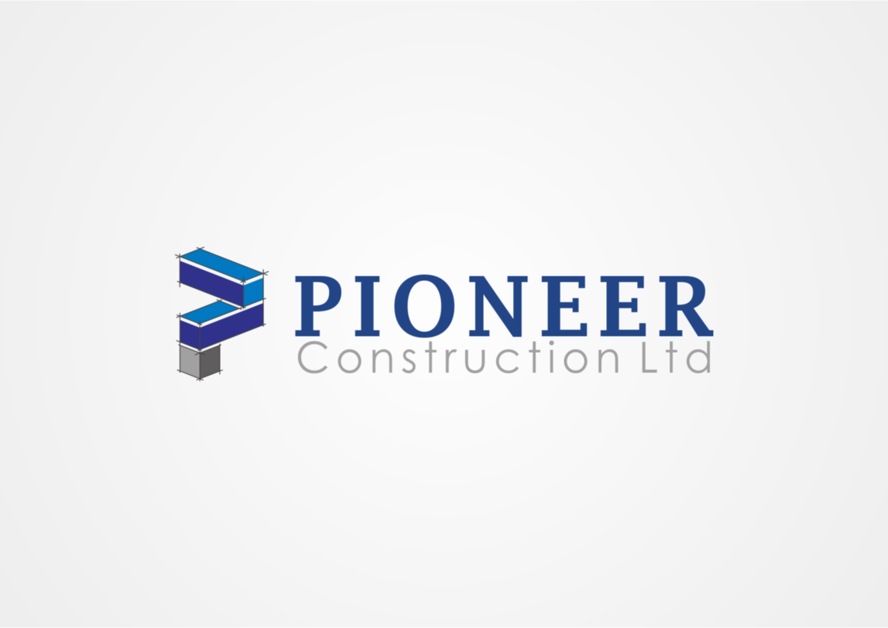 Logo Design by Private User - Entry No. 50 in the Logo Design Contest Imaginative Logo Design for  Pioneer Construction Ltd.