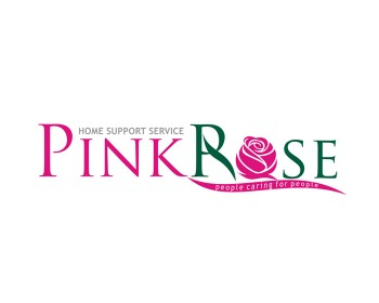 Logo Design by idelz - Entry No. 122 in the Logo Design Contest Pink Rose Home Support Services.