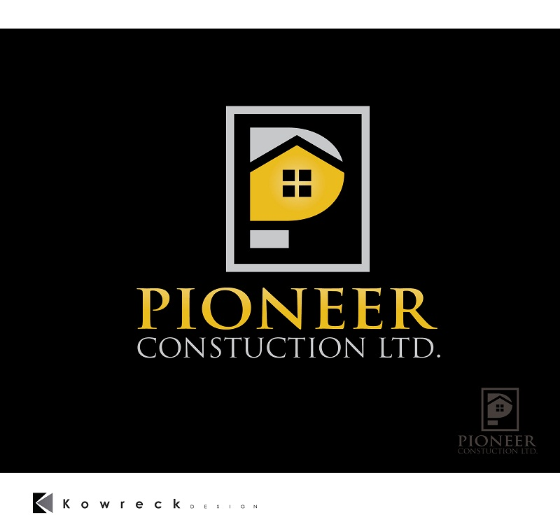 Logo Design by kowreck - Entry No. 61 in the Logo Design Contest Imaginative Logo Design for  Pioneer Construction Ltd.