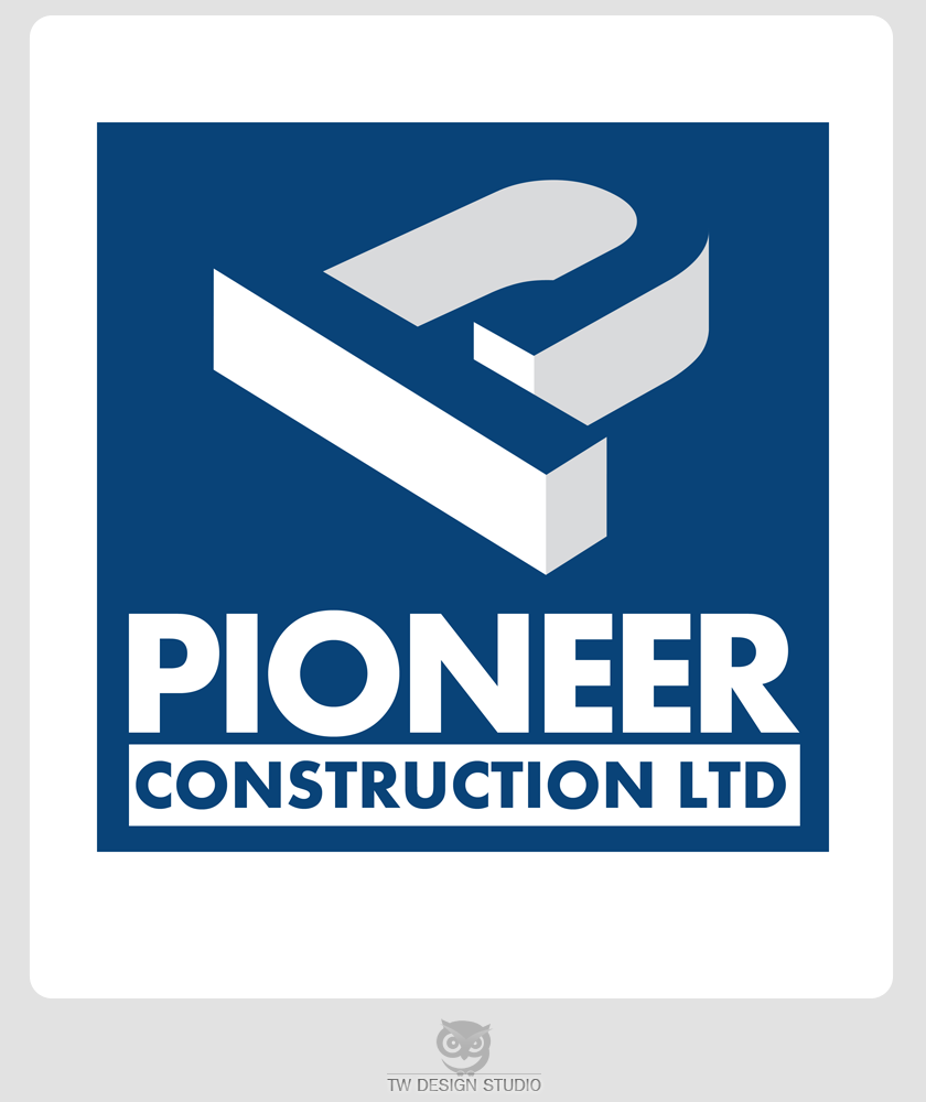 Logo Design by Robert Turla - Entry No. 66 in the Logo Design Contest Imaginative Logo Design for  Pioneer Construction Ltd.