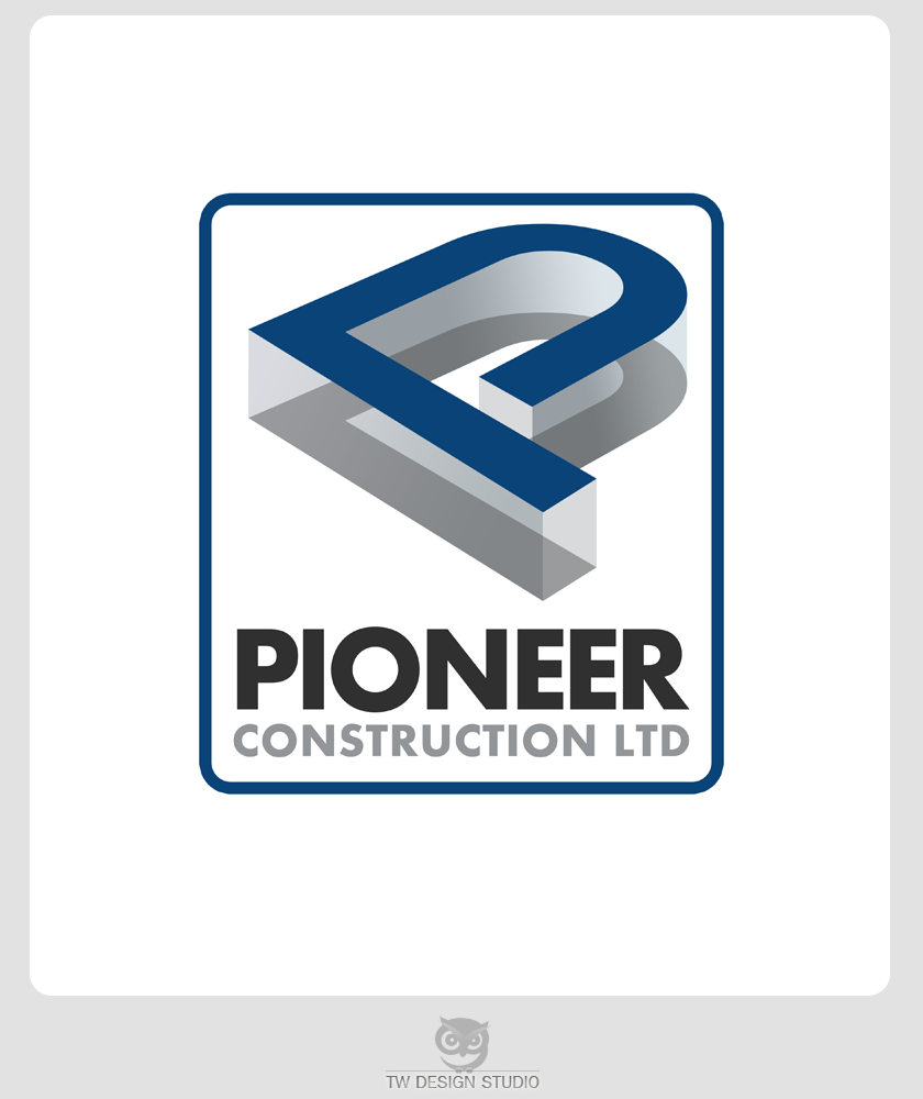 Logo Design by Private User - Entry No. 67 in the Logo Design Contest Imaginative Logo Design for  Pioneer Construction Ltd.