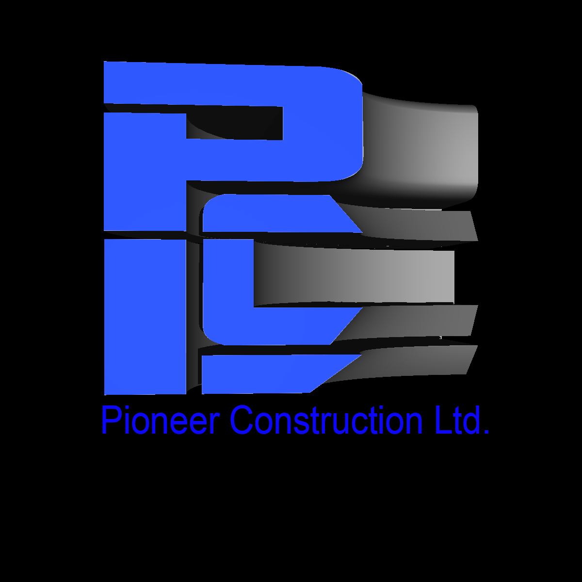 Logo Design by Private User - Entry No. 69 in the Logo Design Contest Imaginative Logo Design for  Pioneer Construction Ltd.