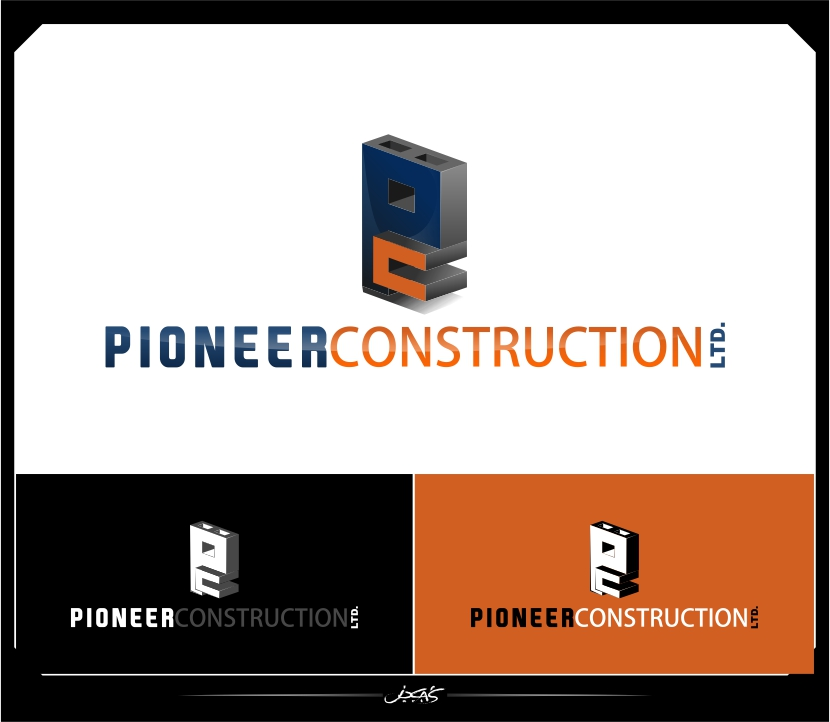 Logo Design by joca - Entry No. 74 in the Logo Design Contest Imaginative Logo Design for  Pioneer Construction Ltd.