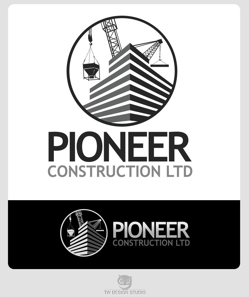 Logo Design by Private User - Entry No. 75 in the Logo Design Contest Imaginative Logo Design for  Pioneer Construction Ltd.