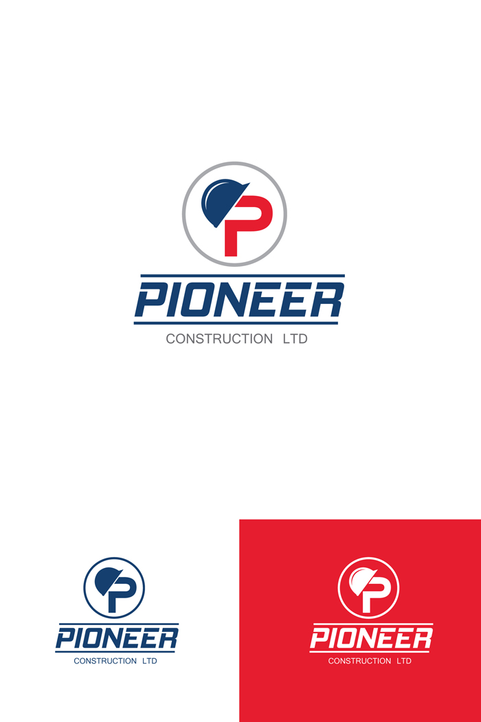 Logo Design by Shameer Okay - Entry No. 82 in the Logo Design Contest Imaginative Logo Design for  Pioneer Construction Ltd.