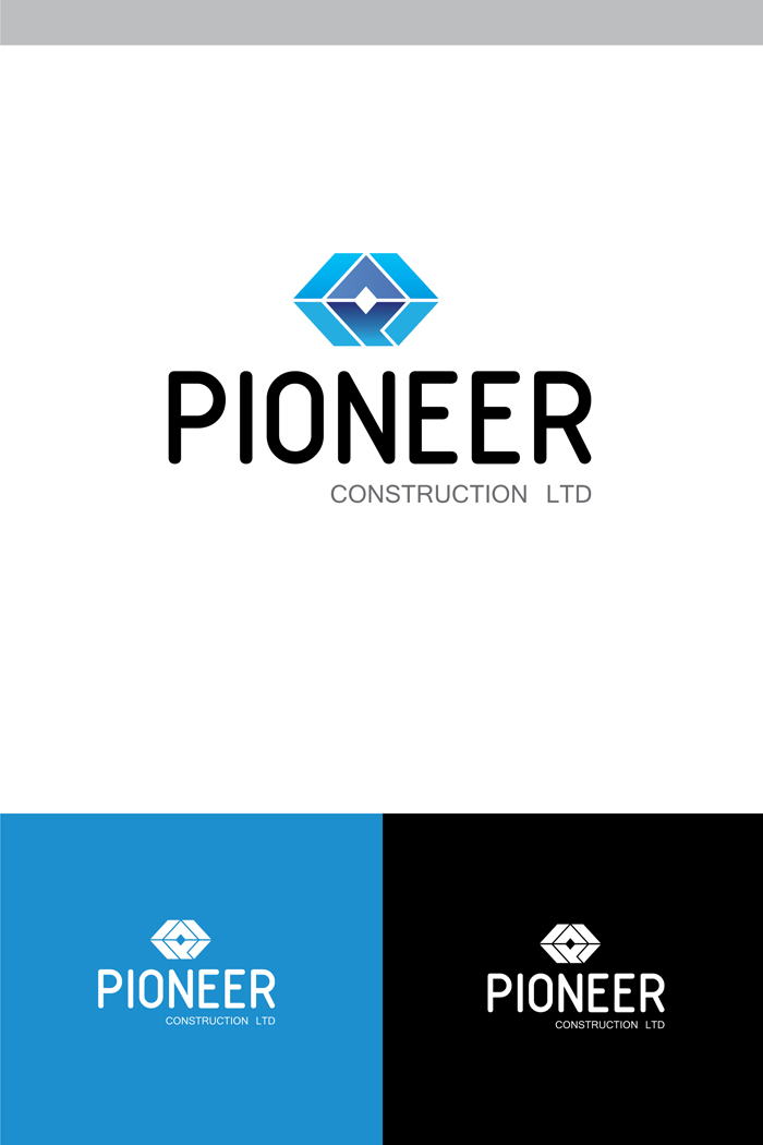 Logo Design by Shameer Okay - Entry No. 83 in the Logo Design Contest Imaginative Logo Design for  Pioneer Construction Ltd.