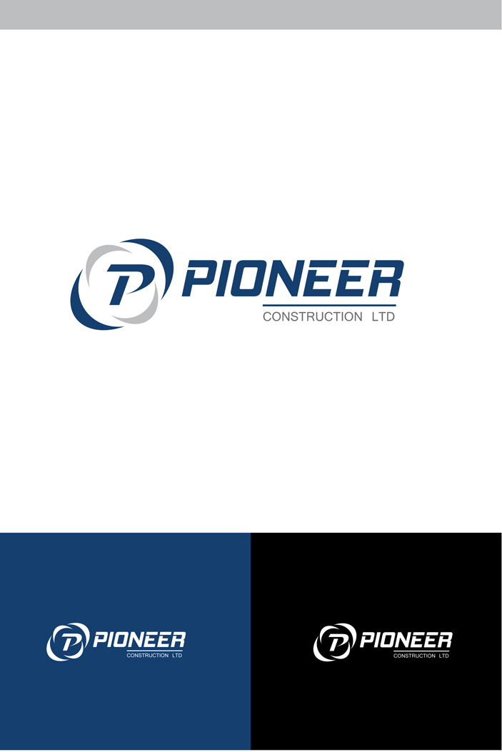Logo Design by Shameer Okay - Entry No. 85 in the Logo Design Contest Imaginative Logo Design for  Pioneer Construction Ltd.