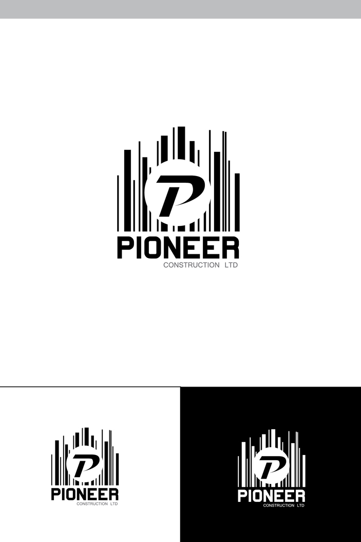 Logo Design by Shameer Okay - Entry No. 86 in the Logo Design Contest Imaginative Logo Design for  Pioneer Construction Ltd.